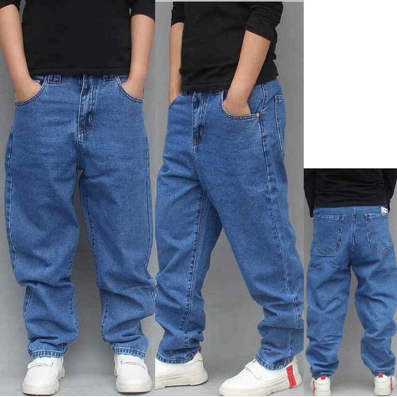 2020 Nouveau Trendy Jeans Hommes en vrac Sarouel de légèrement extensible Big Taille Skateboard Jeans baggy Homme Denim trousres