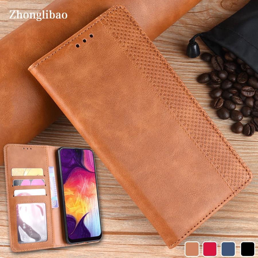 Leather Flip Case per Samsung Galaxy A80 A90 A50 A70 5G A40 A30 A10 S A20E A7 2018 M 40 30 Magnetic copertina