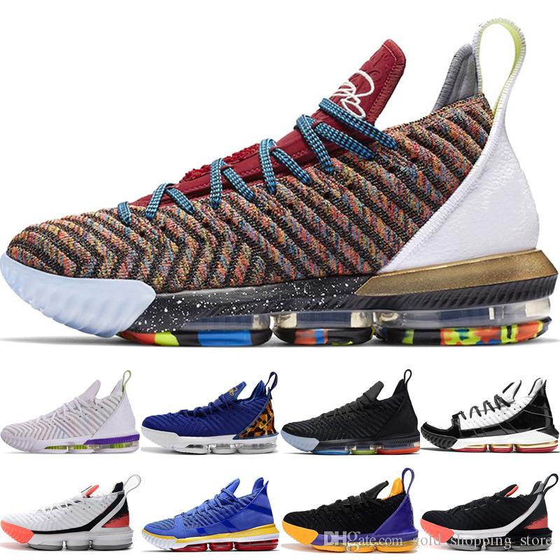 Üst OG 16 s 1 THRU 5 16 XVI Dört Süvari Sıcak Lava Siyah Miras Erkekler Basketbol Ayakkabıları Erkek Atletik Eğitmenler Spor Sneakers Chaussures