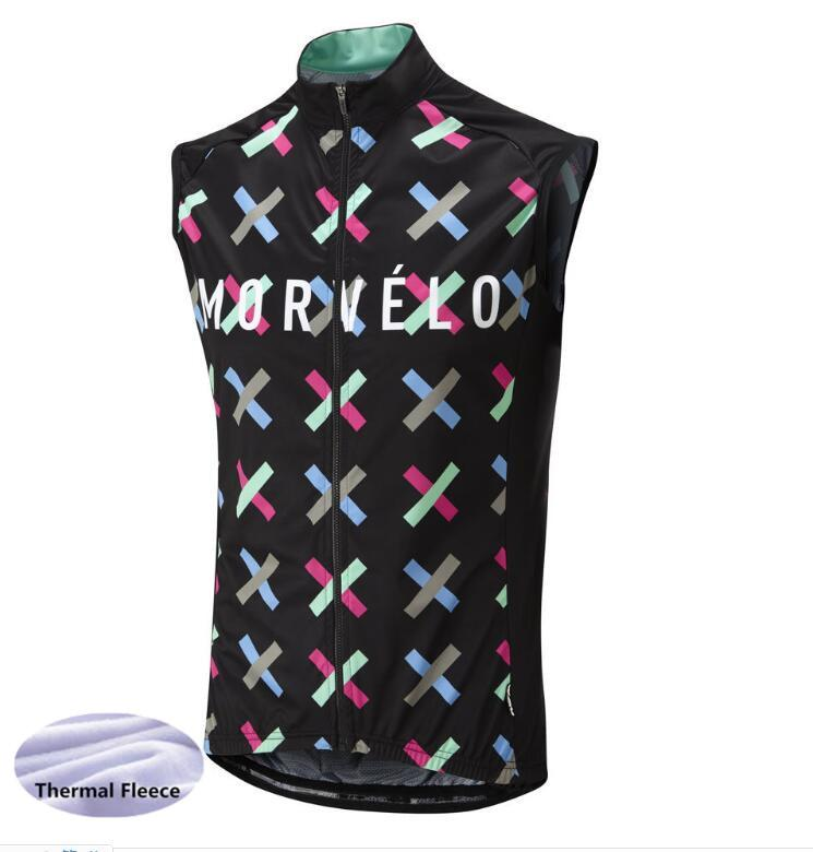 Morvelo Winter Thermal thermal sleeveless Cycling Vest Men Warm Fleece Cycling jerseys/ Bicycle Bike Clothing / Gilet wholesale
