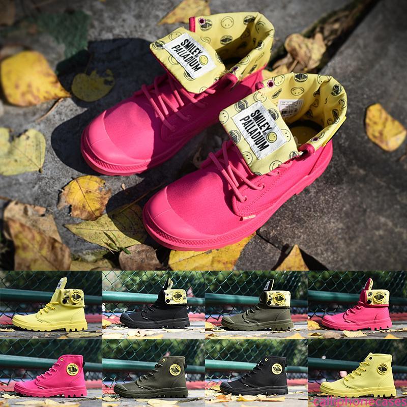 2019 Конструктор Мужская обувь Милявская Улыбающиеся лица Ботильоны Яркий Желтый Зеленый Розовый Черный Женщина Дизайнер Открытый спорт Тренер тапки
