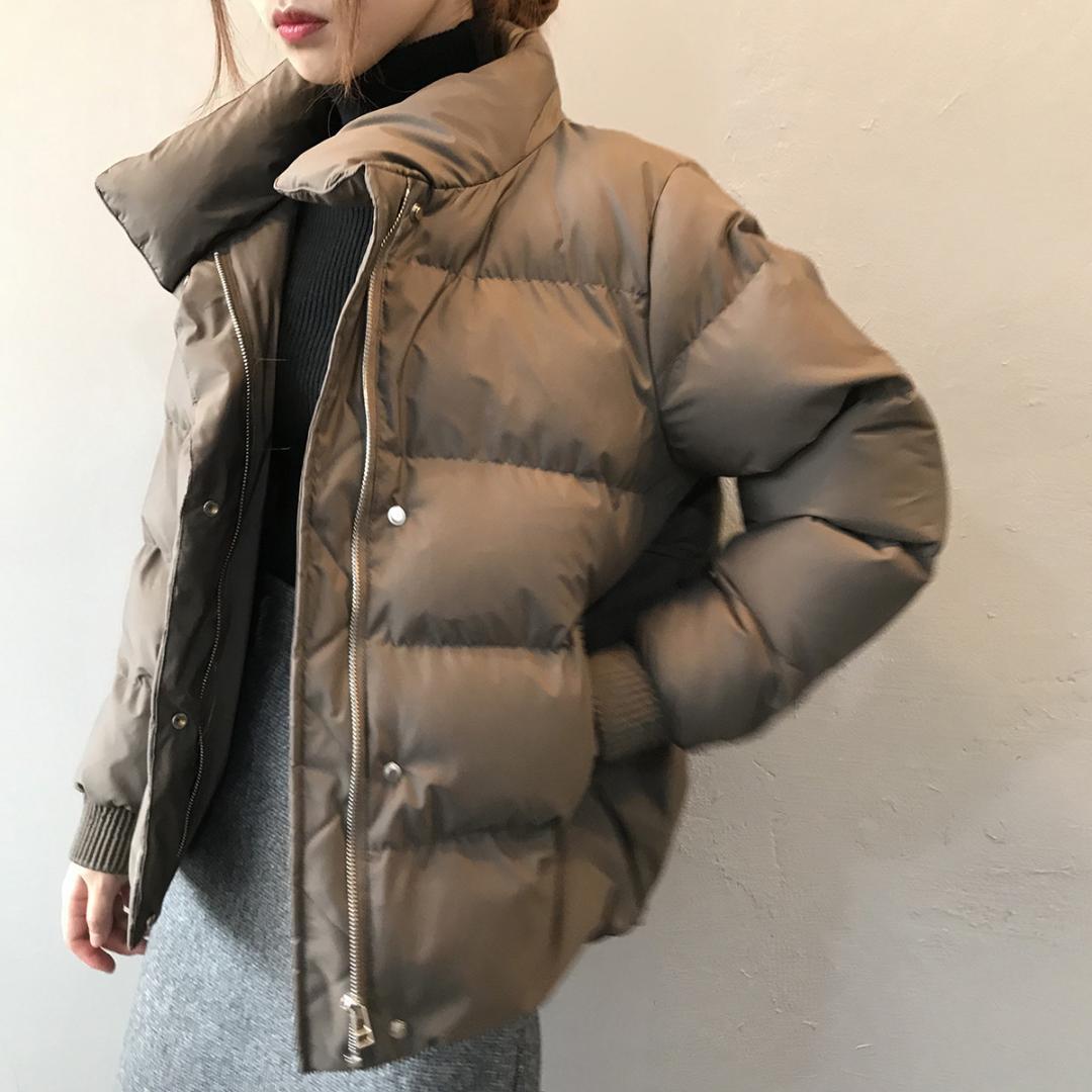 Женщины зимние куртки ветровки 2019 Мода Толстые теплый с длинным рукавом Куртки Тонкий Твердая Сладкое для женской одежды Белый