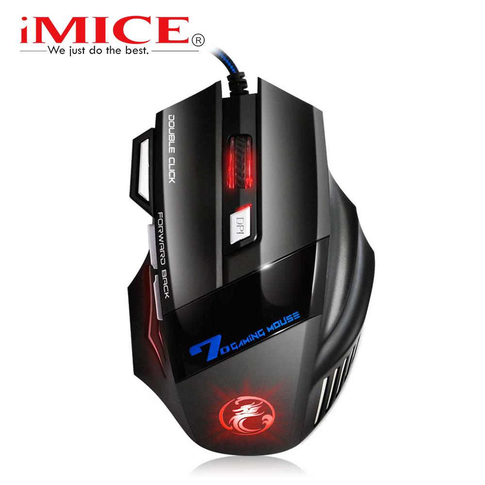 Cheap Mice Wired Gaming USB Computer Mouse Gamer X7 Ergonomic Mouse Gaming Silent Mause Gamer Cable Mice 7 Buttons For PC