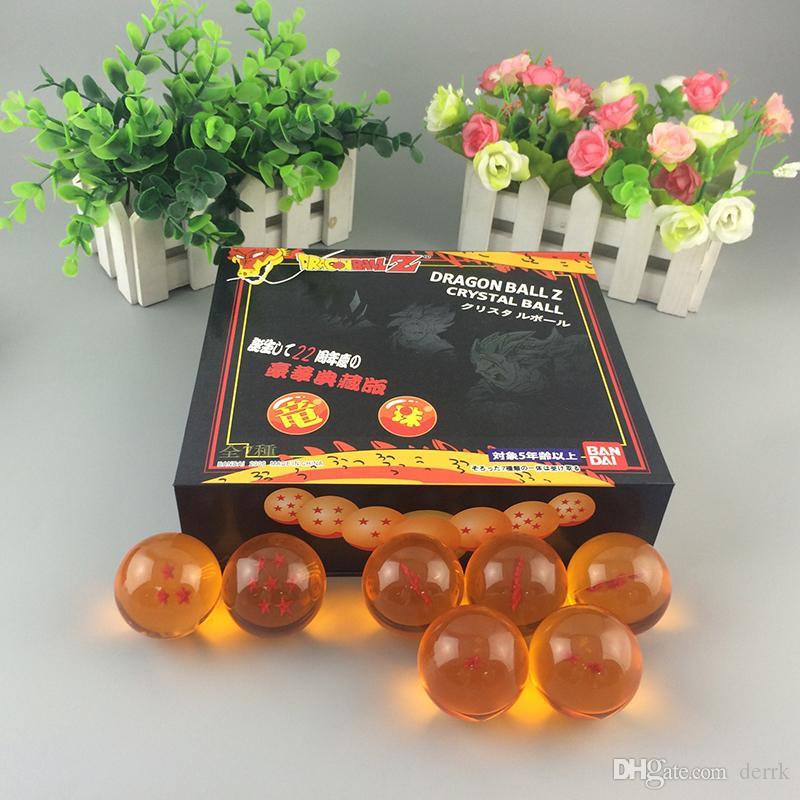 3.5 سنتيمتر dbz دراغون بول z shenron dragonball كريستال الكرة pvc الشكل لعب دمية 7 نجوم كرات الأزرق / الأصفر / واضح العظمى هدية عيد