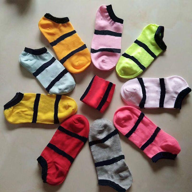 Pink Black Boys & Girls' Adult Short Socks Men & Women Cheerleaders Basketball Sports Ankle Socks Free Size Multicolors