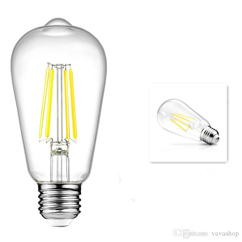 KWB LED Filament Edison Bulb 2700K Warm White 4W / 6W / 8W 2PCS