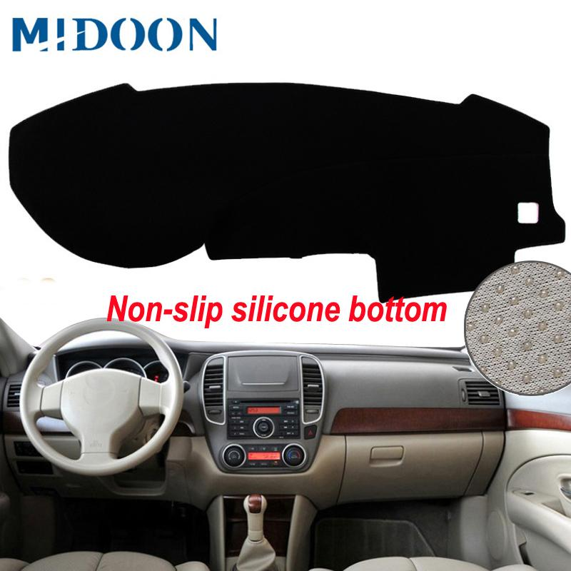 MIDOON Pour Bluebird Sylphy berline 2005 -2012 Covers Car Styling Dashmat Dash Mat Sun Shade Dashboard Cover 2006 2007 2008