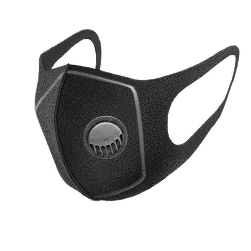 أقنعة الوجه التي يعاد استخدامها مع التنفس أقنعة صمام الغبار قناع قابل للغسل القطن أزياء للدراجات للرجال والنساء DHL شحن مجاني