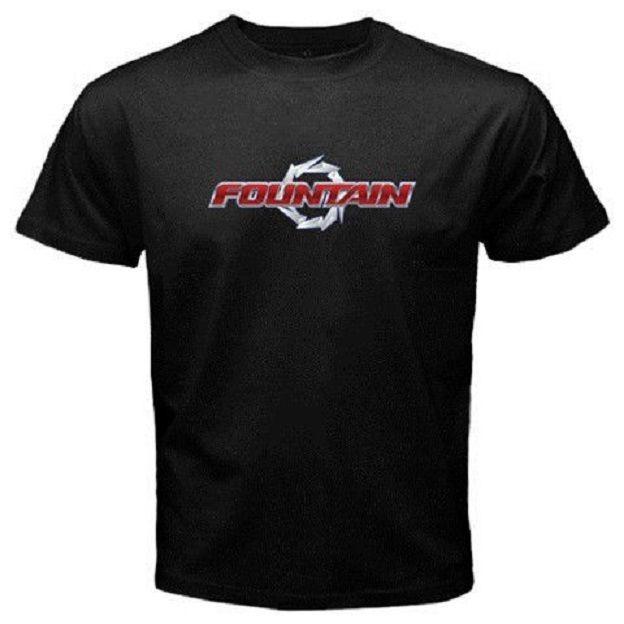 2019 Fountain Boats Logo Tee T-shirt sz S-2XL