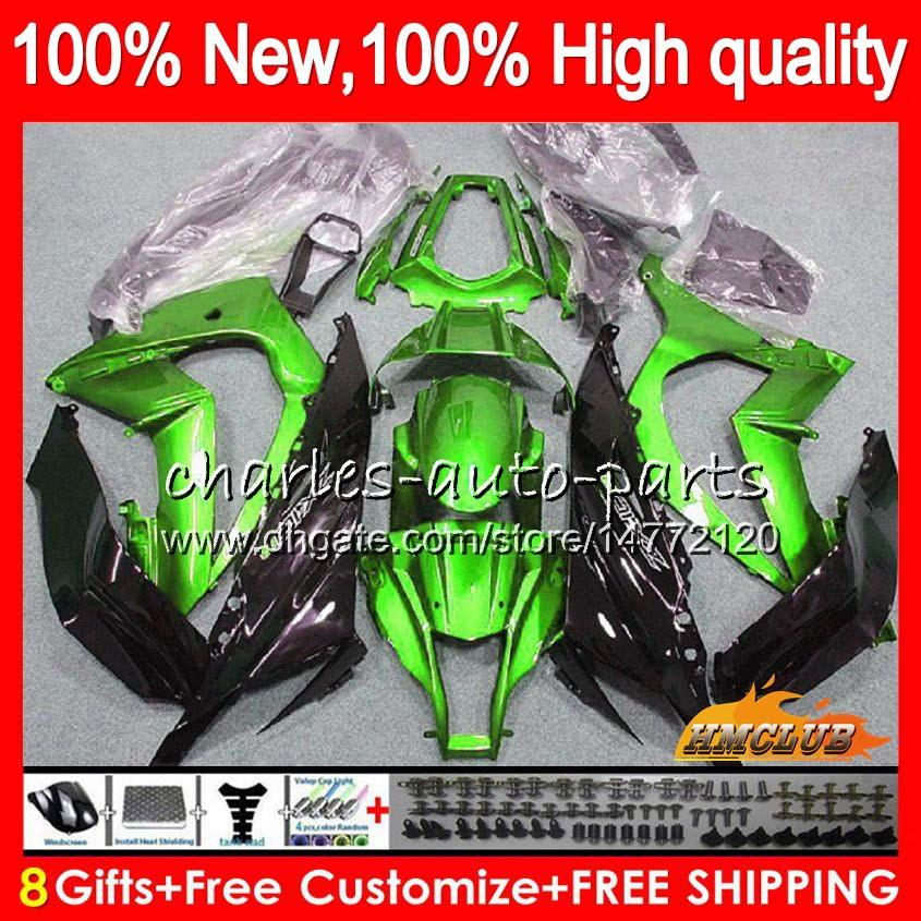 Injection 100%Fit For KAWASAKI ZX-10R 1000CC ZX10R 16 17 18 51HC.14 ZX1000 ZX 10 R ZX 1000 glossy green ZX 10R 2016 2017 2018 OEM Fairings