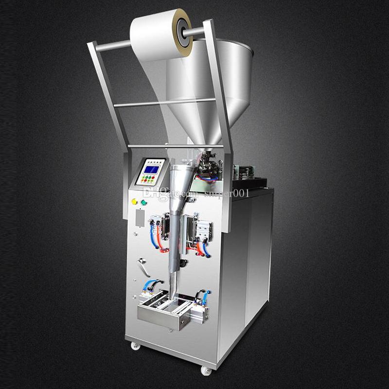 sos biber sosu zeytinyağı krem, üç taraflı bir conta arka conta dolum paketleme makinesi domates fıstık yağı için paketleme makinesi yapıştırma