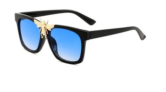 0239 novo e elegante grande abelha decorativo óculos de sol da moda caixa grande óculos de sol elegantes glasses8