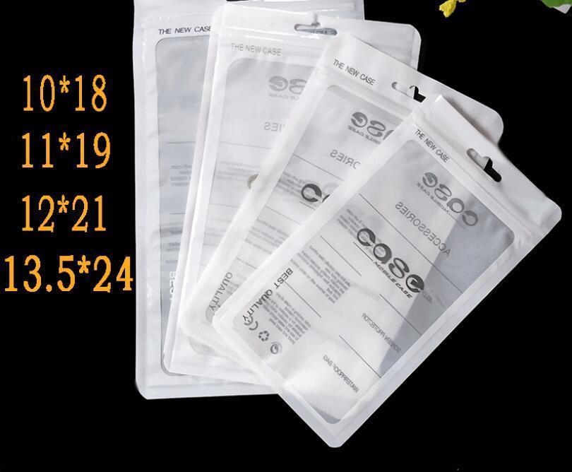 Sacs à glissière à glissière à glissière à glissière détaillée Sac de téléphone cellulaire Case en plastique Clear Clear Emballage Sacs à glissière à glissière à glissière à fermeture à glissière Pochette Pouche Sac