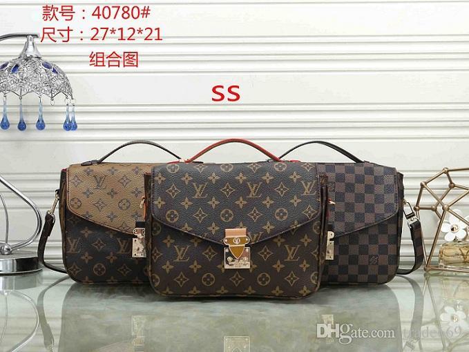 Spedizione gratuita !!! Le borse a tracolla di stile di modo classico di nuovo stile 2019 riempie le borse delle donne borsa e sacchetto della polvere delle borse