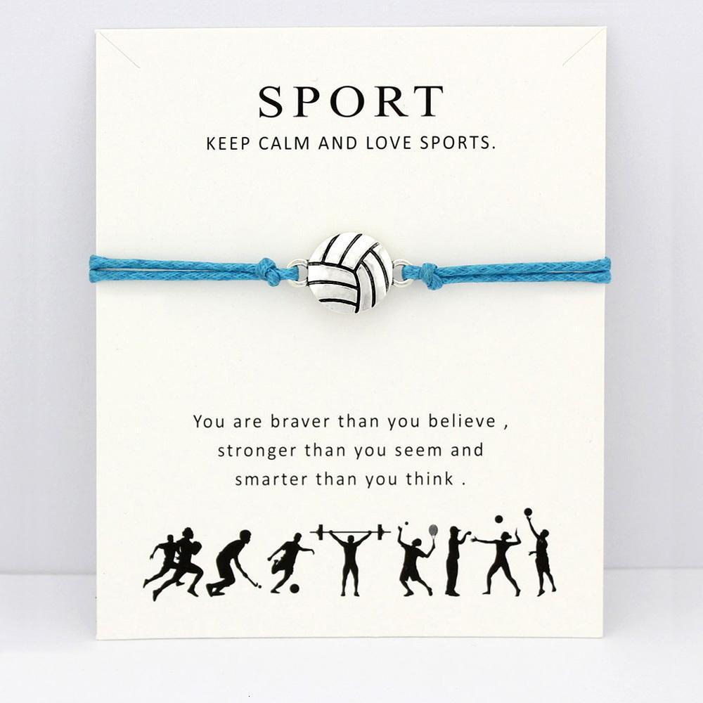 Vôlei Beisebol Softbol Basketball Futebol Hóquei no Gelo Tennis Sports Cartão Braceletes Mulheres Homens jóias dom Muitos Styles