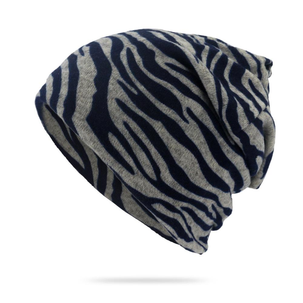 Unisex Striped Print Skullies Beanies Striped Design Hats for Men Women Fashion Thin Multifunction Scarf Outdoor Slouchy Beanie
