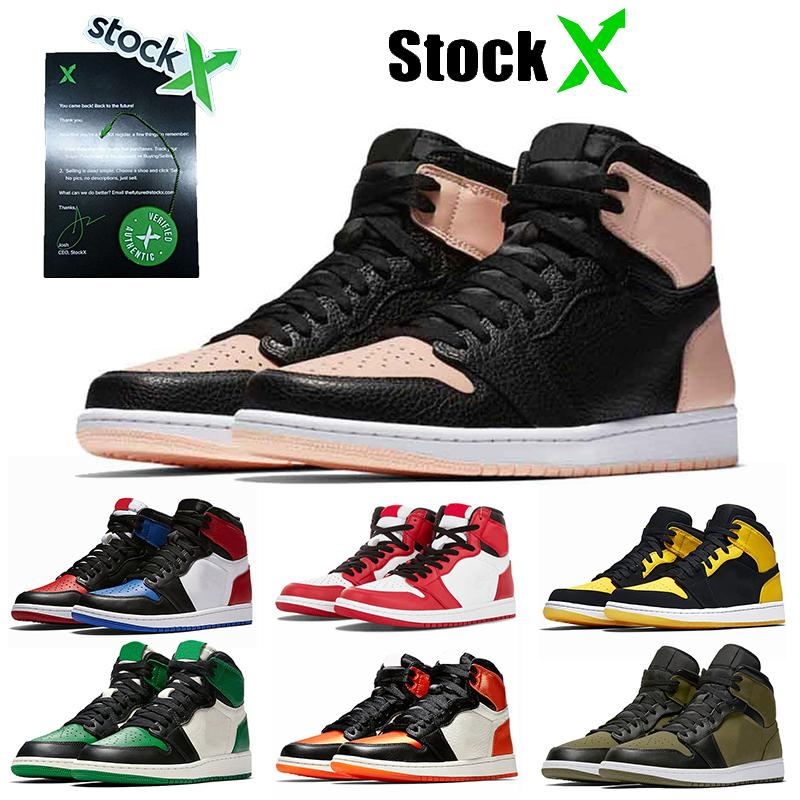 Nike Air Retro Jordan 1 Moda Kadın Jumpman 1 1s Basketbol Ayakkabı Crimson Ton Chicago İlk 3 Çam Green 1s Oyun Kraliyet Üst Kalite Erkek Eğitmenler Spor Spor ayakkabılar