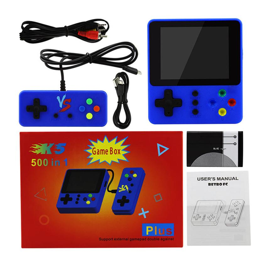 Handheld Game Console K5 K8 SUP Mini Retro Nostalgia 500 In 1 Double Player With Gamepad Protable Game Console Video Game Box