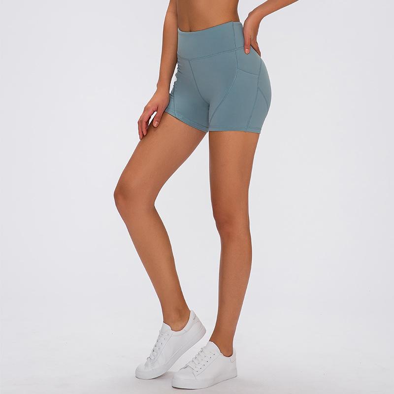 L- 03 اليوغا سروال قصير إمرأة الجري السراويل السيدات اليوغا عارضة تتسابق الكبار رياضية بنات ممارسة اللياقة البدنية ملابس