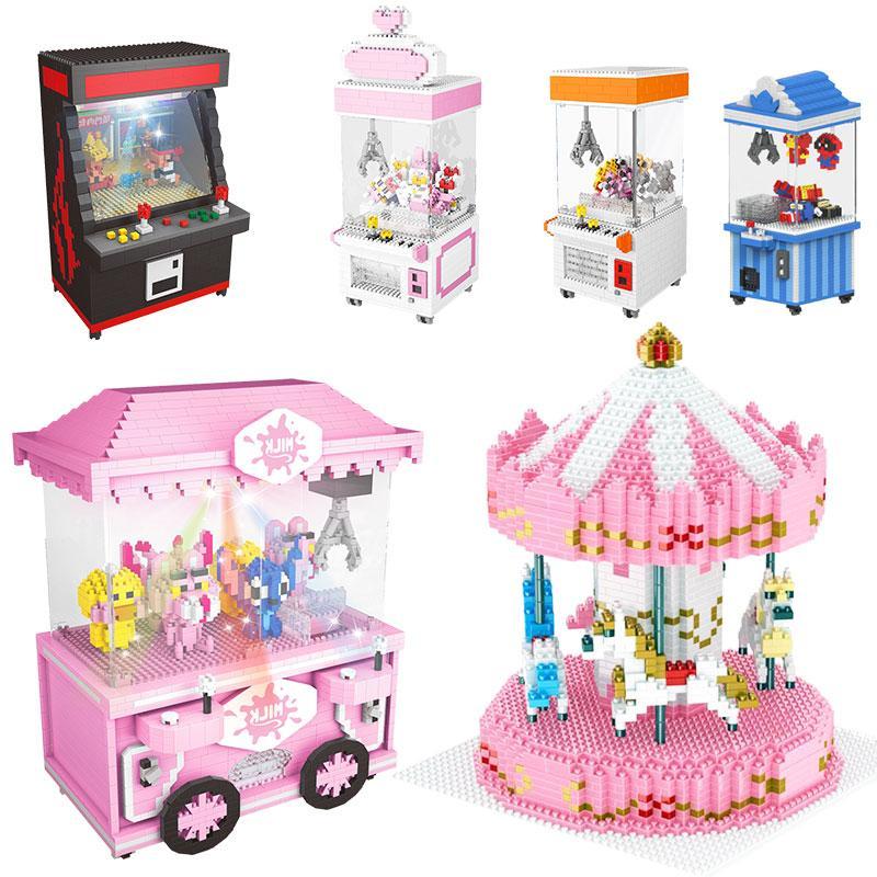 어린이 선물 게임 룸 아케이드 파이터 VS LOZ Balody에 대한 CLASIC 미니 빌딩 블록 만화 파이터 게임 모델 클립 인형 벽돌