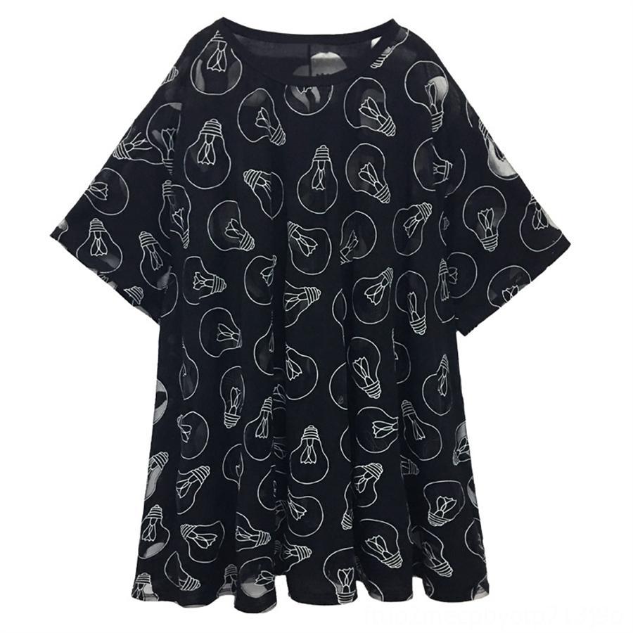 Grande taille T-shirt personnalisé des femmes manches courtes 2020 mode micro en perspective d'été t-shirt décontracté haut