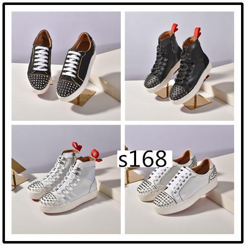 Dernières Donna Sneakers Flat Hommes Red Bas Chaussures Femmes Rivet Spiky Sock junior Spikes plat Shoess5