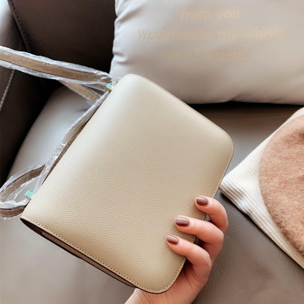 Coffret cadeau 7 couleurs Sac à rabat véritable sac à bandoulière en cuir Flap bourse 18cm 24cm tradingbear de haute qualité