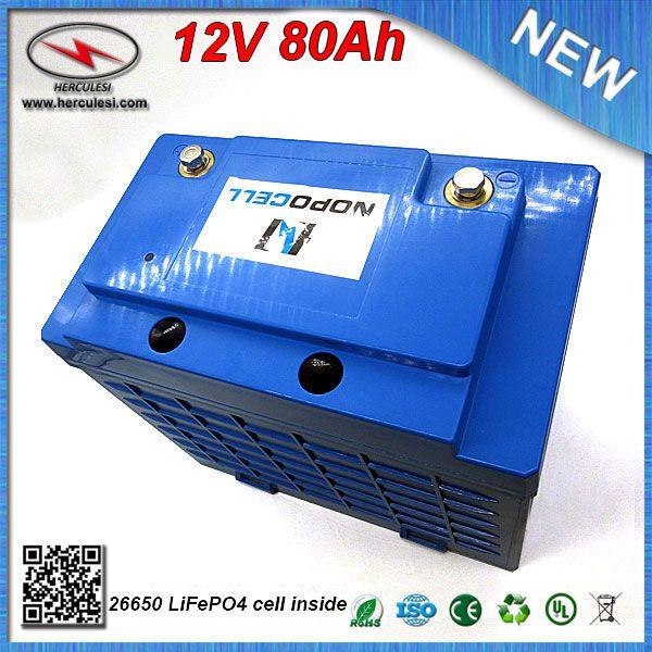 12V batteria di alta qualità LiFePO4 80Ah con il caso di plastica per la bici elettrica motorino sistema solare UPS Streetlamp FREE SHIPPING