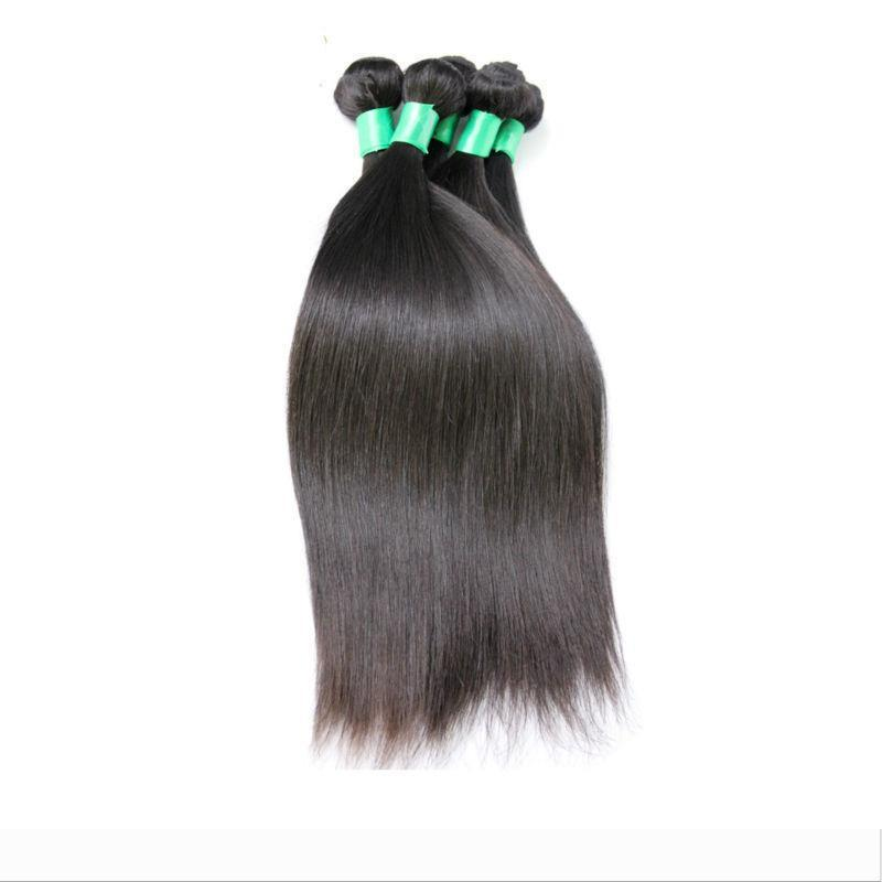 6A Brazilian Virgin Hair Straight Weft Hair Weave Extensions Full Head Natural Color Dyeable Bleachable Unprocessed 100% Human Remy Hair 1pc