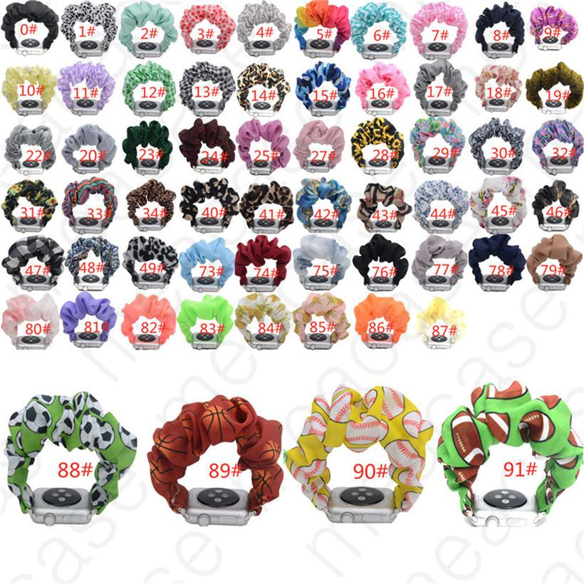 Elma İzle 4 3 2 1 Bant Bilek Kayışı Watchband Çok renkli Ekose Leopar Baskı Kayış 42mm 38mm 91 Renkler D31204 için Bant Değiştirme