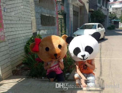 2019 High quality Accessory Panda & Teddy Bear Heads Costume Mascot Cartoon for Lover