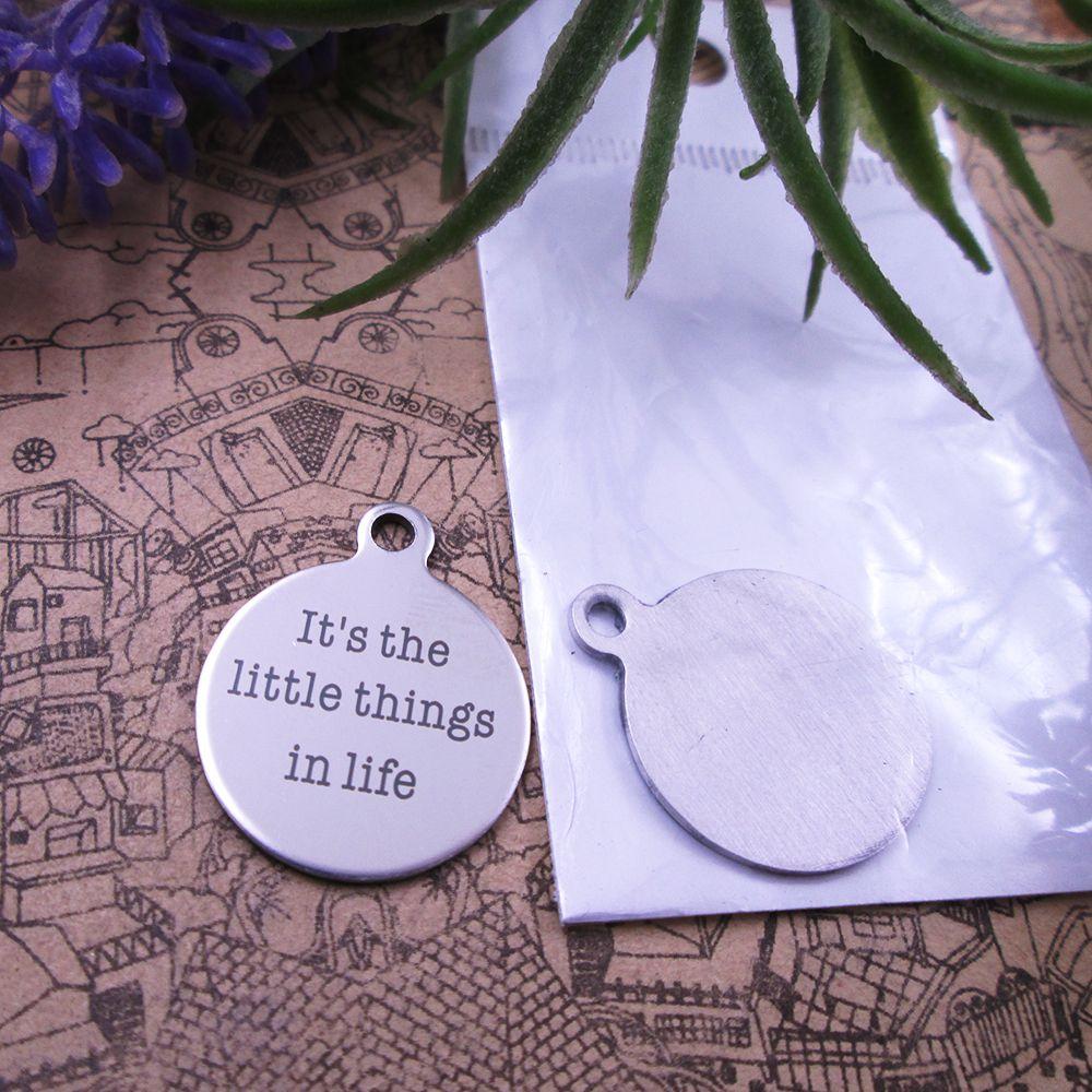 """40pcs - """"Sono le piccole cose della vita"""" in acciaio inossidabile fascino più stile per la scelta di fascini DIY dei pendenti per la collana"""