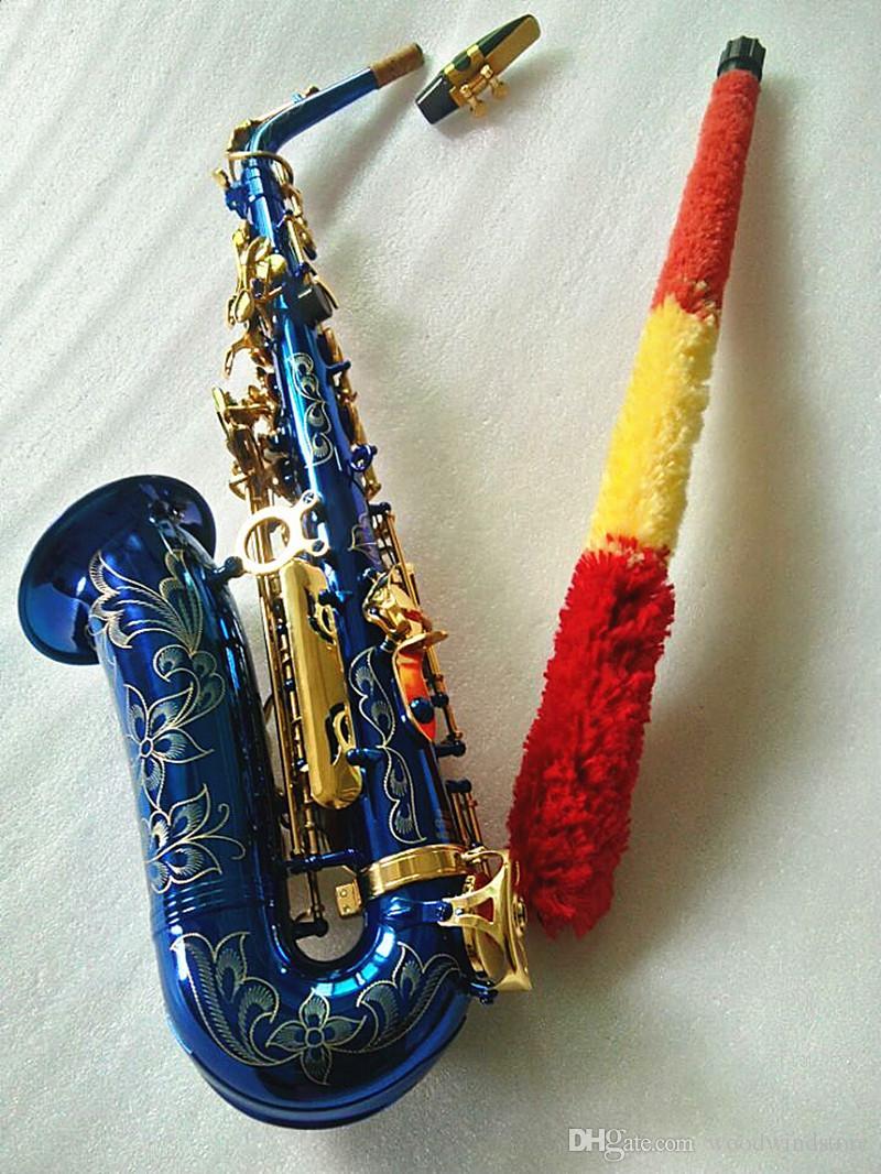 2020 New Japan Suzuki Nuovo sassofono bemolle Alto alta qualità Blu Sassofono con il caso professionale strumenti musicali