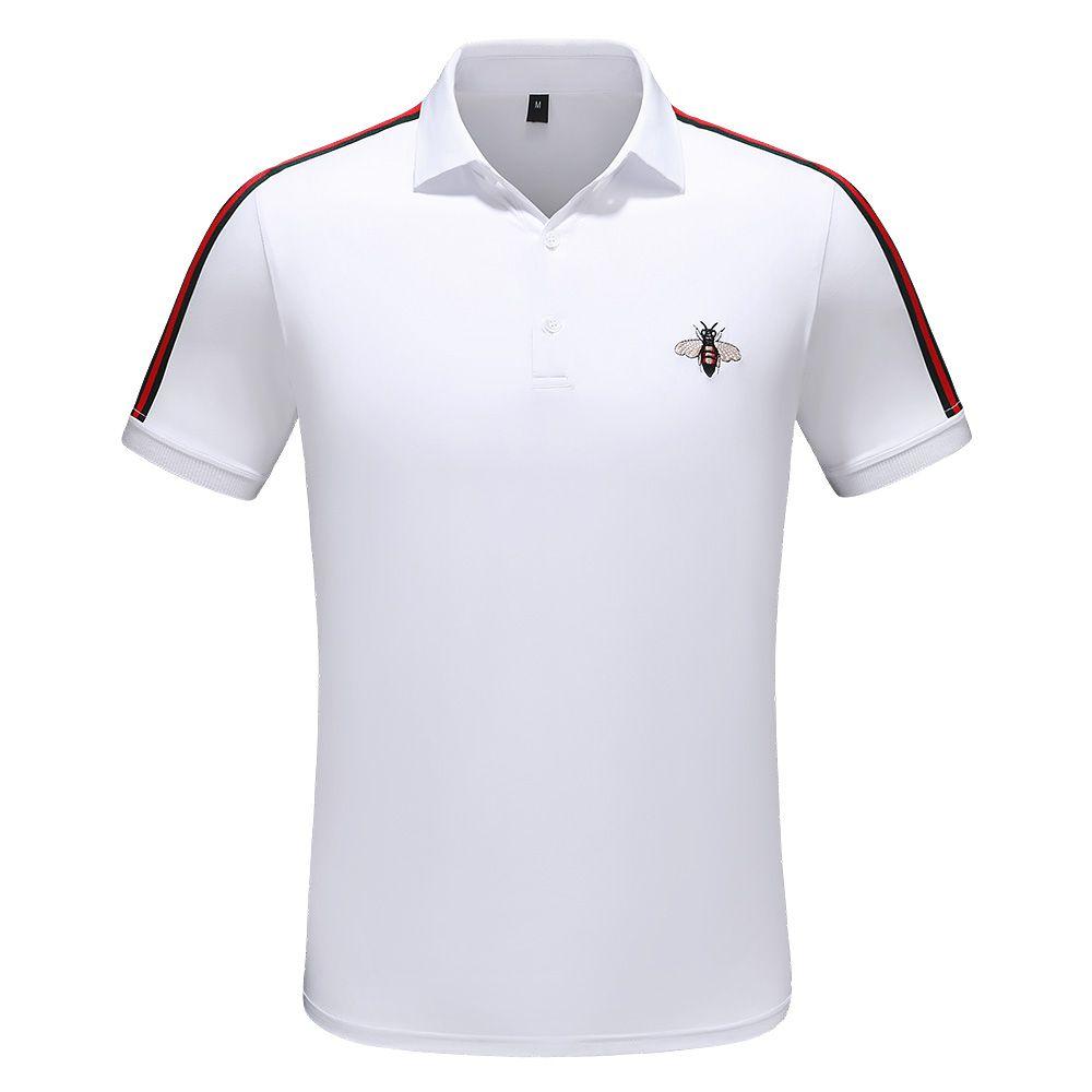 ГОРЯЧАЯ новая летняя мужская футболка поло повседневная рубашка поло с вышивкой футболка поло с бирками M-3XL