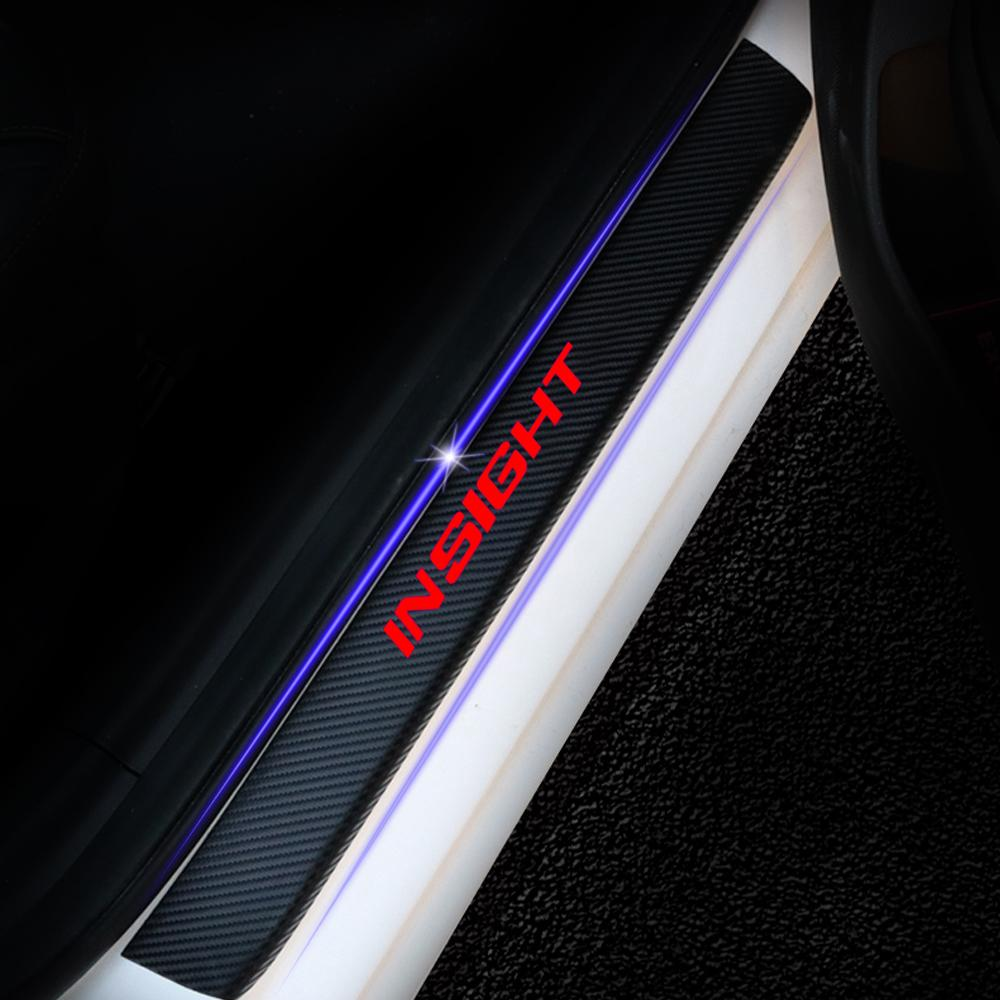 Color Name : Black Red JPVGIA Soglia 4PCS Sportello dauto Guardia Fibra di Carbonio Adesivi Honda Insight Auto Copertura Anti Scratch Protector soglia della Porta Accessori Auto