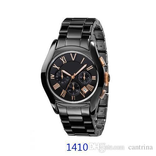 MELHOR PREÇO relógio de CERÂMICA Amantes AR1400 AR1440 AR1403 AR1410 AR1410 AR1411 AR1416 RELÓGIO CRONÓGRAFO Original caixa + Certificado