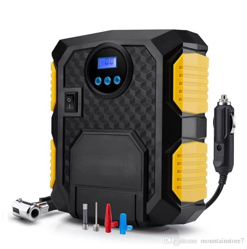 Compresseur d'air portatif de pompe de compresseur d'air de voiture de 12 volts de pneu de Digital de compresseur d'air de voiture de 150 livres par pouce carré pour la bicyclette de moto (au détail)