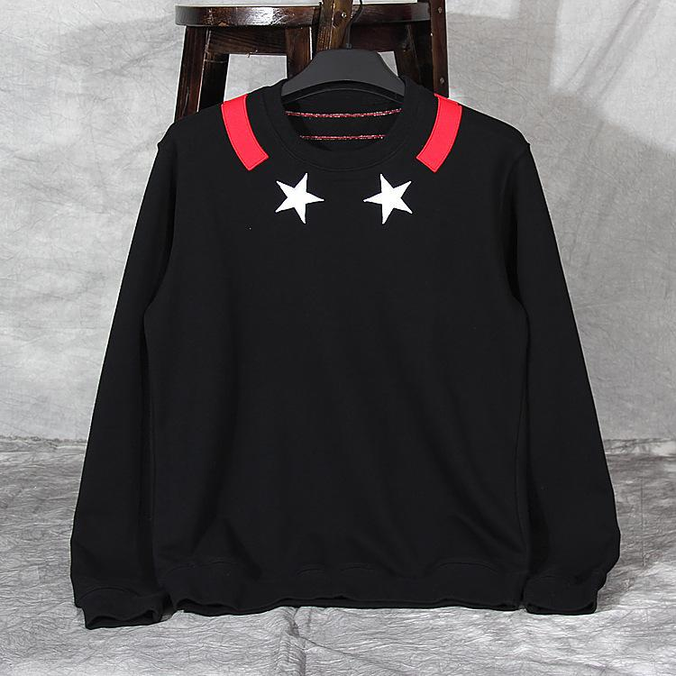 Dear2019 Embroidery Brand Tide Stars Pullover Sweater Male Suit-dress Autumn Easy Ins Exceed Fire Loose Coat