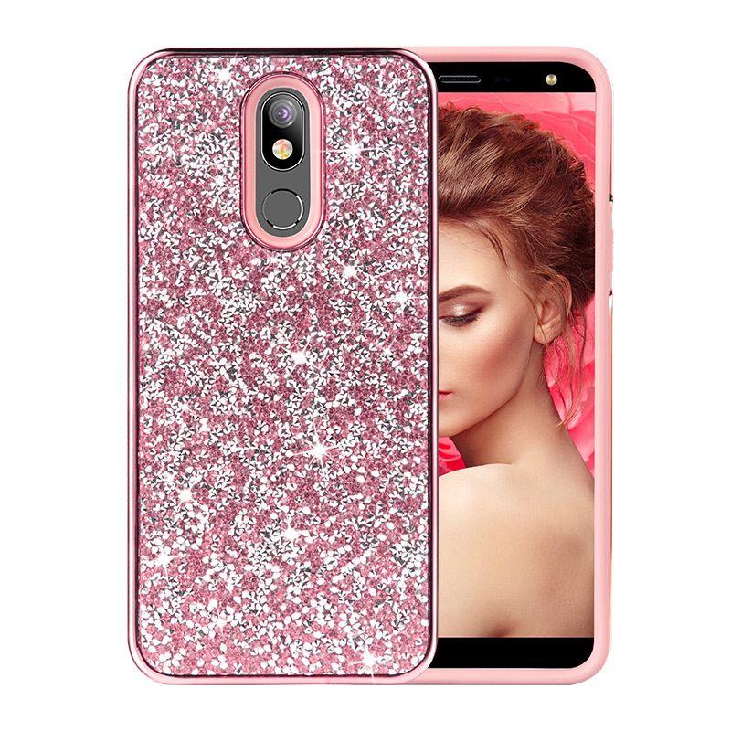 for LG Stylo 5 K40 Samsung S10 S9 Note 10 Plus Diamond Rhinestone Case TPU+PC Fashion