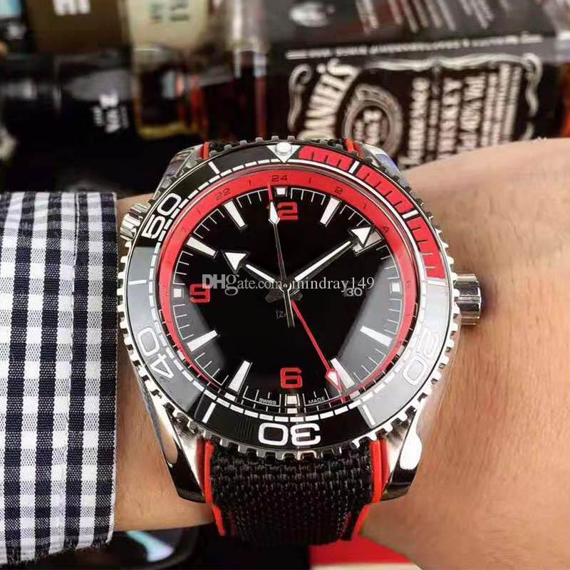 Роскошные часы классическая серия Планета Океан коаксиальный 600 м Джеймс Бонд 007 керамический безель механизм с автоподзаводом механические мужские часы Наручные часы