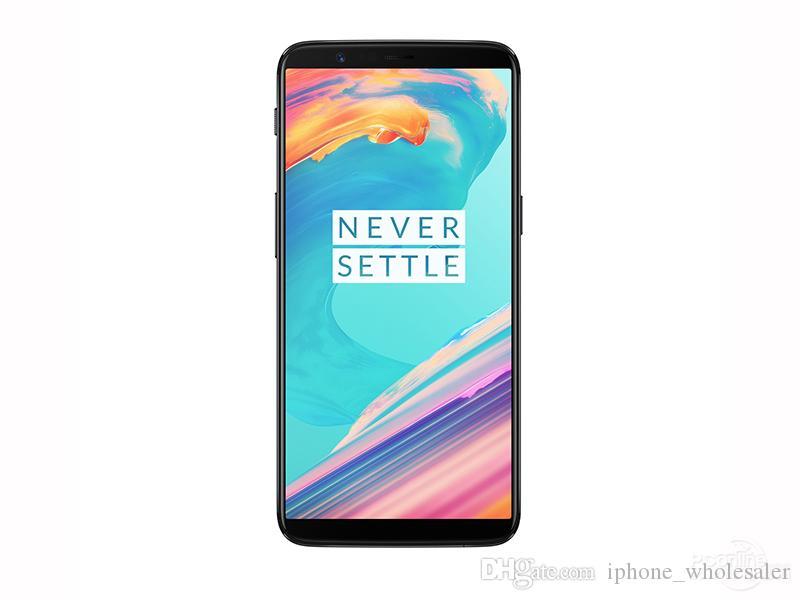 Orijinal OnePlus 5T 4G LTE Cep Telefonu 8 GB RAM 128 GB ROM Snapdragon 835 Octa Çekirdek Android 6.01 inç Tam Ekran 20MP Face ID NFC Cep Telefonu