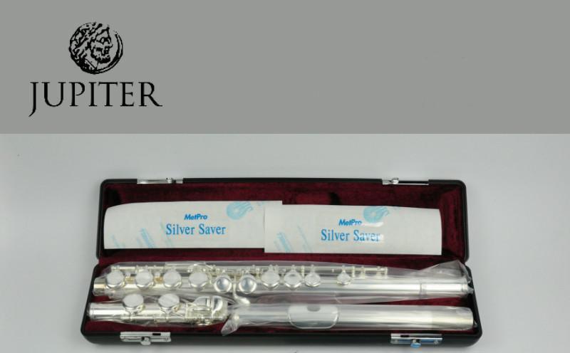 argento placcato rame-nichel 16 fori Chiave C con supporto per flauto Custodia panno per pulizia guanti Flauto in C 16 fori chiusi Strumento per flauto traverso Set per principianti flauto nichelato