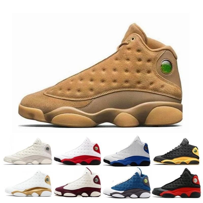 Nueva barato 13 13s Zapatos Hombres Mujeres Baloncesto Bred Negro Marrón Azul Blanco holograma gris piedras de deportes rojo zapatillas de deporte Size7-13