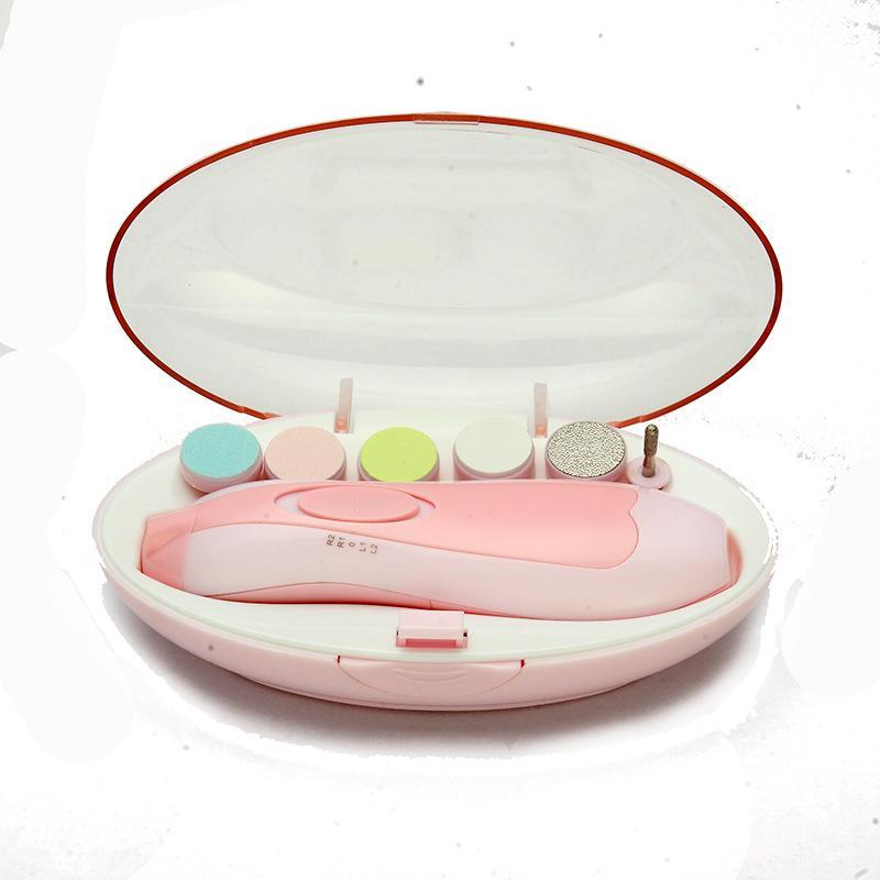 Bebek Otomatik Elektrikli Tırnak Düzeltici Bebek Manikür Seti LED Ön Işık Ile Bebek Tırnak Bakımı Makas Çocuklar Elektrikli Manikür Kiti GGA3501-3