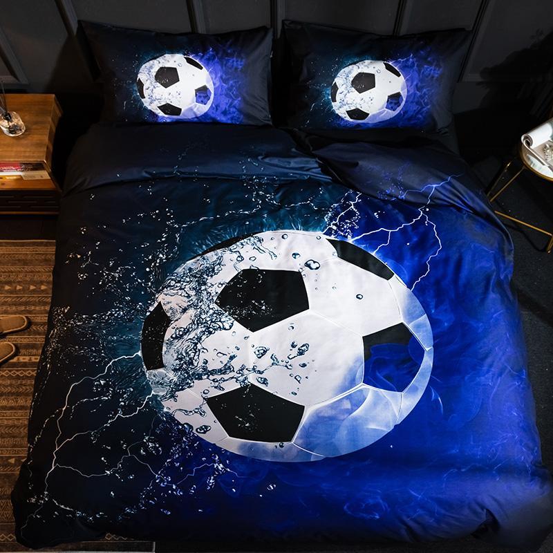 3D Futbol Baskı Yatak Seti Beyzbol Futbol Basketbol Desen Nevresim Seti Ev Yatak Odası Dekor Tekstili yatak örtüsü Yatak