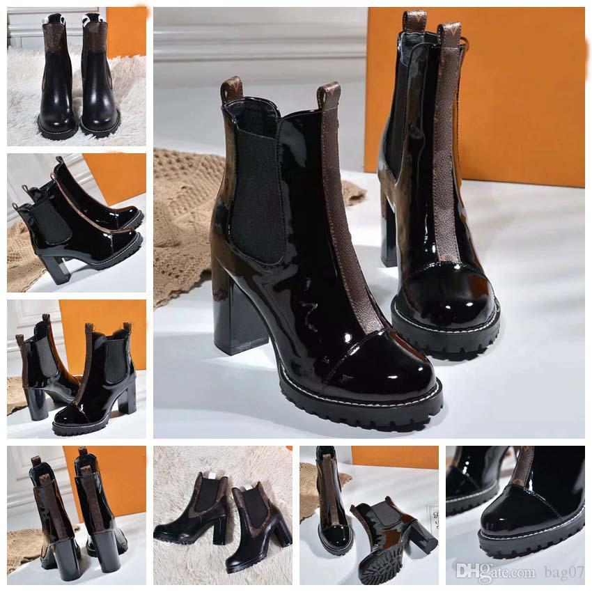Femme Marque Bottes Cuir véritable meilleure qualité Chaussures Bottines Martin Bottes Chaussures à lacets de mode Eu: 35-41 Avec Free box DHL L2204