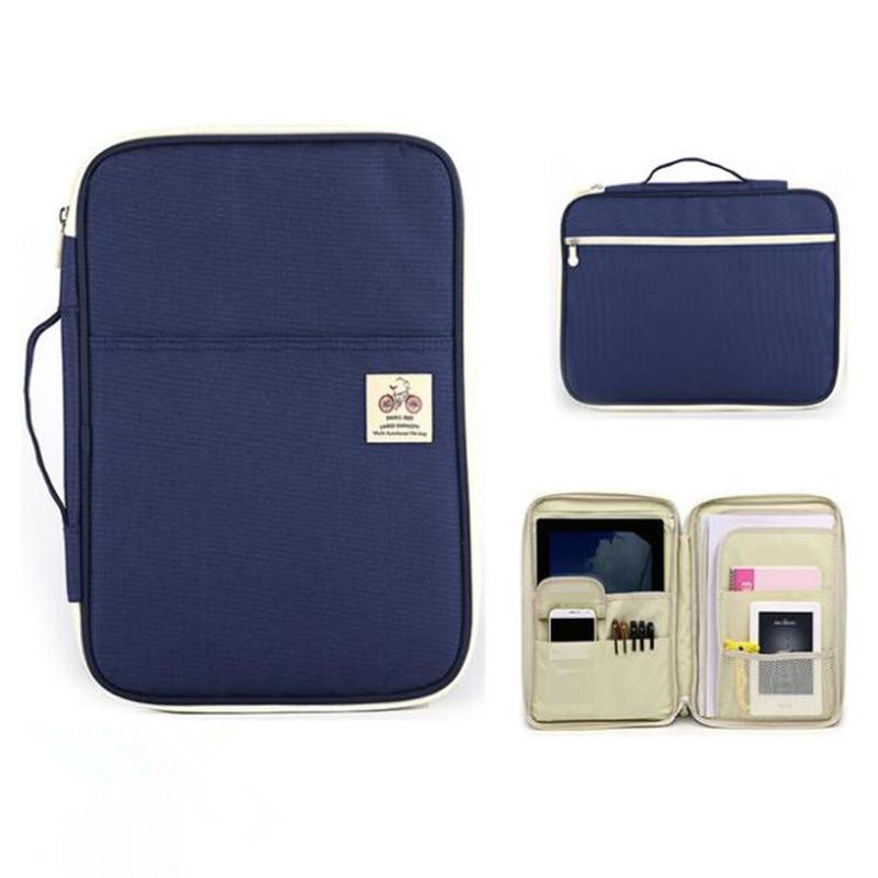 Mens Business Briefcase Waterproof Oxford Cloth File Pack