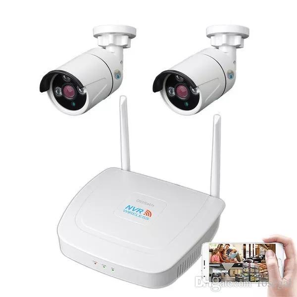2CH WIFI Kablosuz CCTV Gözetleme Sistemi Kiti 1080P NVR IP Güvenlik Kamerası Sistemi Video Gözetim Takımı