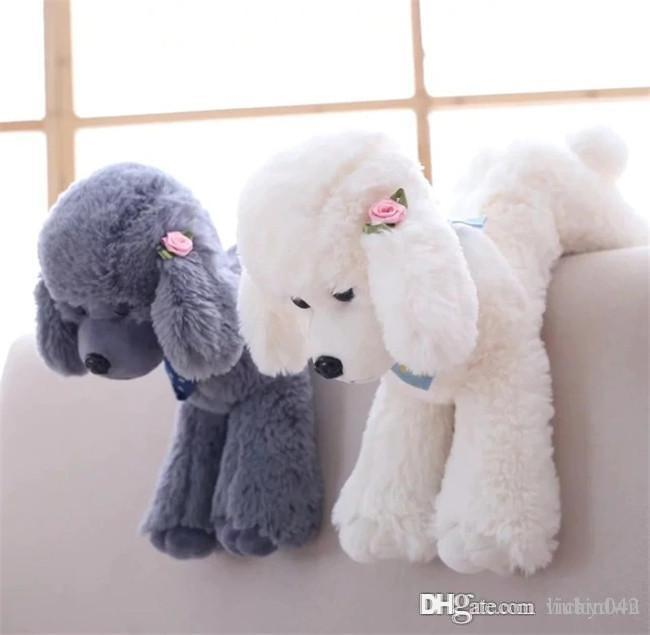 20170603 Stuffed Animals 5 Color 40CM Simulation Teddy Dog Doll Poodle Home Furnishing Plush Toys For Girls Birthday Gifts