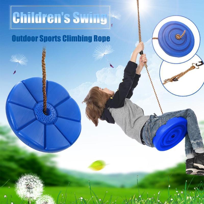 Al aire libre oscilación del asiento infantil con pétalos asiento deportivo escalada al aire libre oscilación disco de cuerda